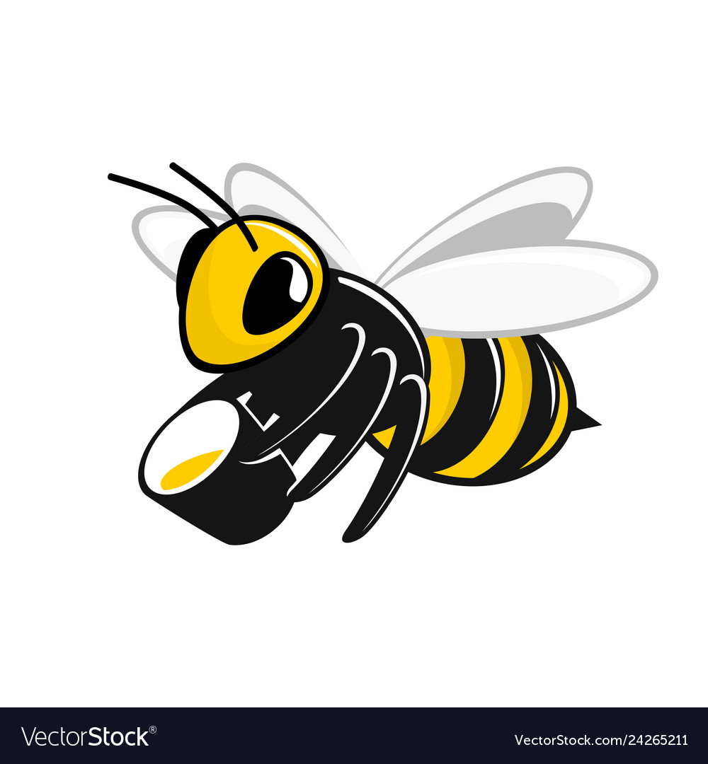Bee with a bucket honey