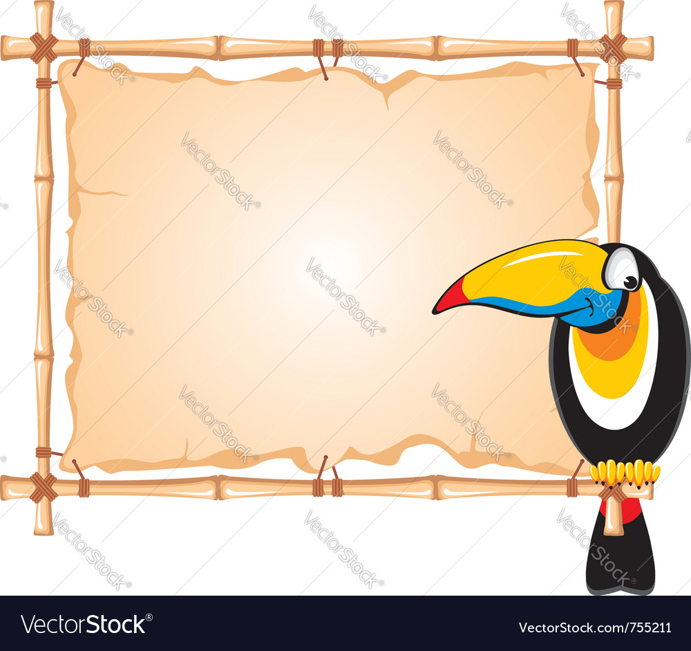Cheerful toucan