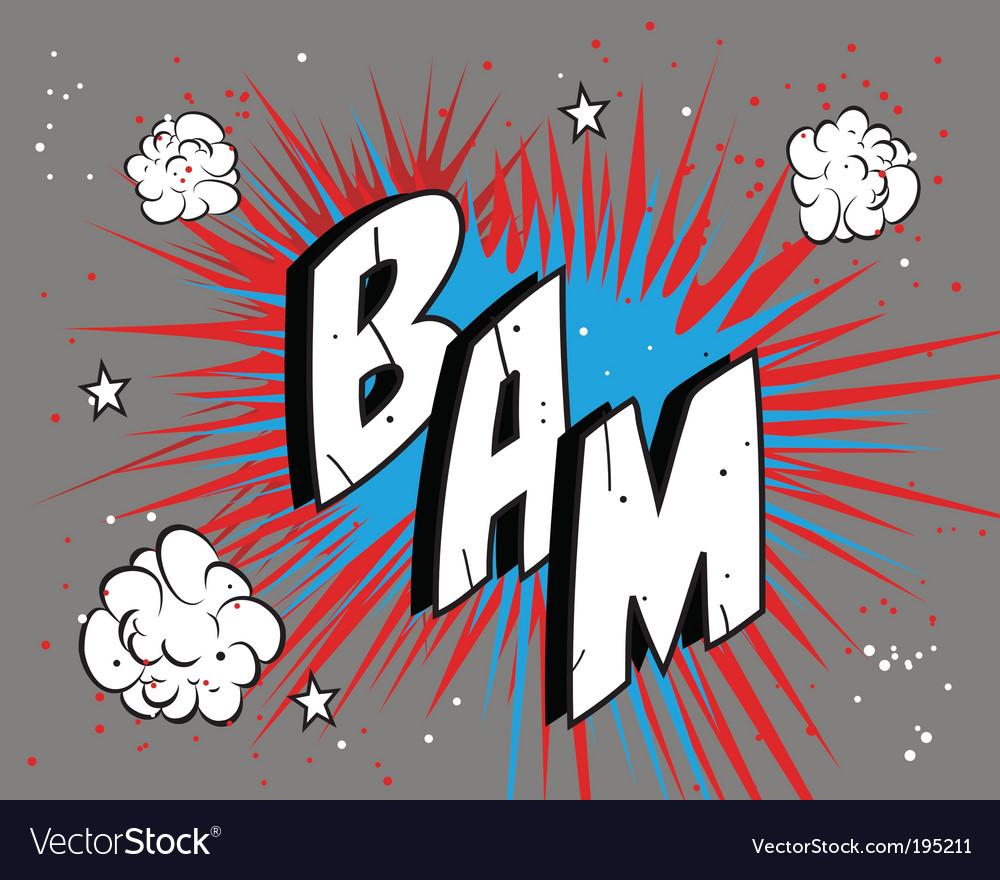 Comic book bam vector image
