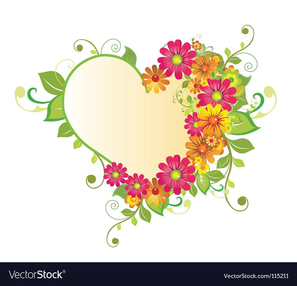 flower heart royalty free vector image - vectorstock  vectorstock