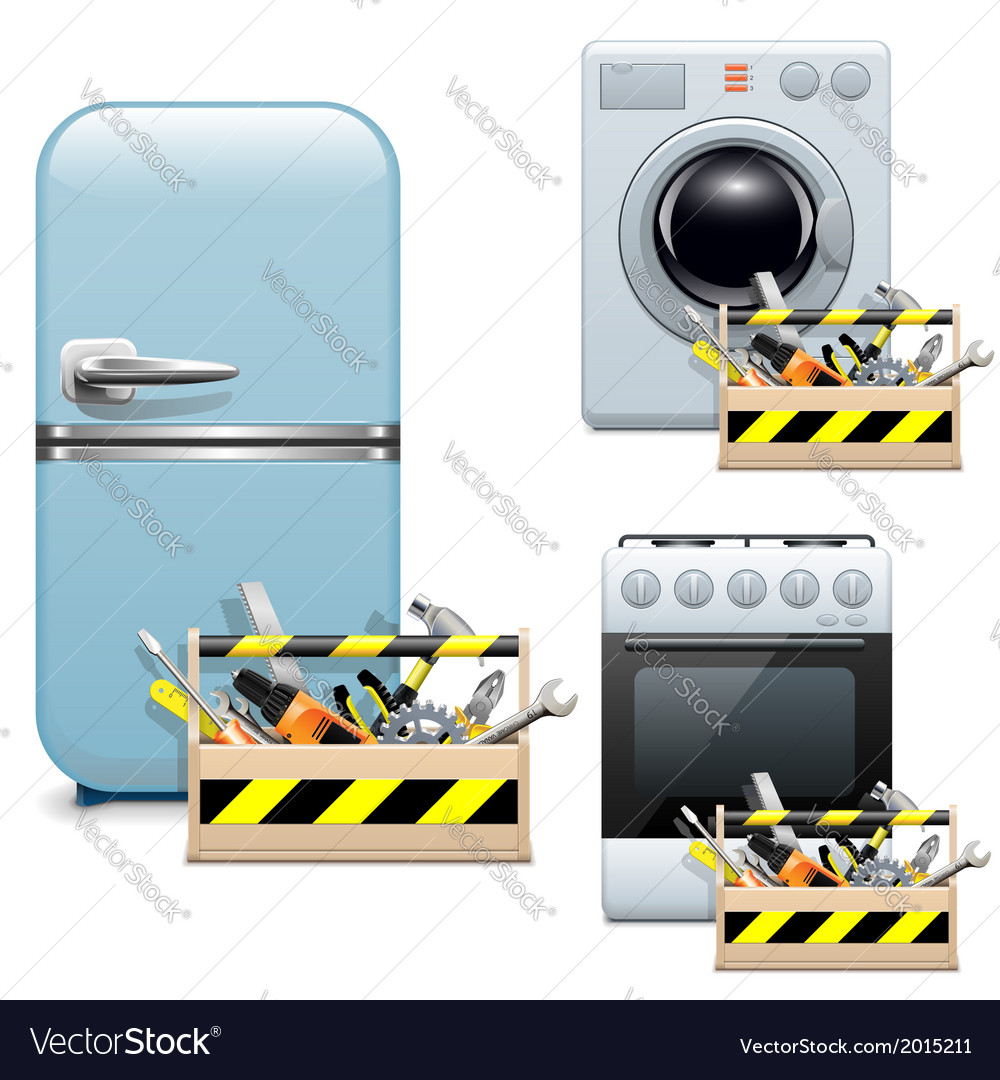 Household Appliance Repair Icons