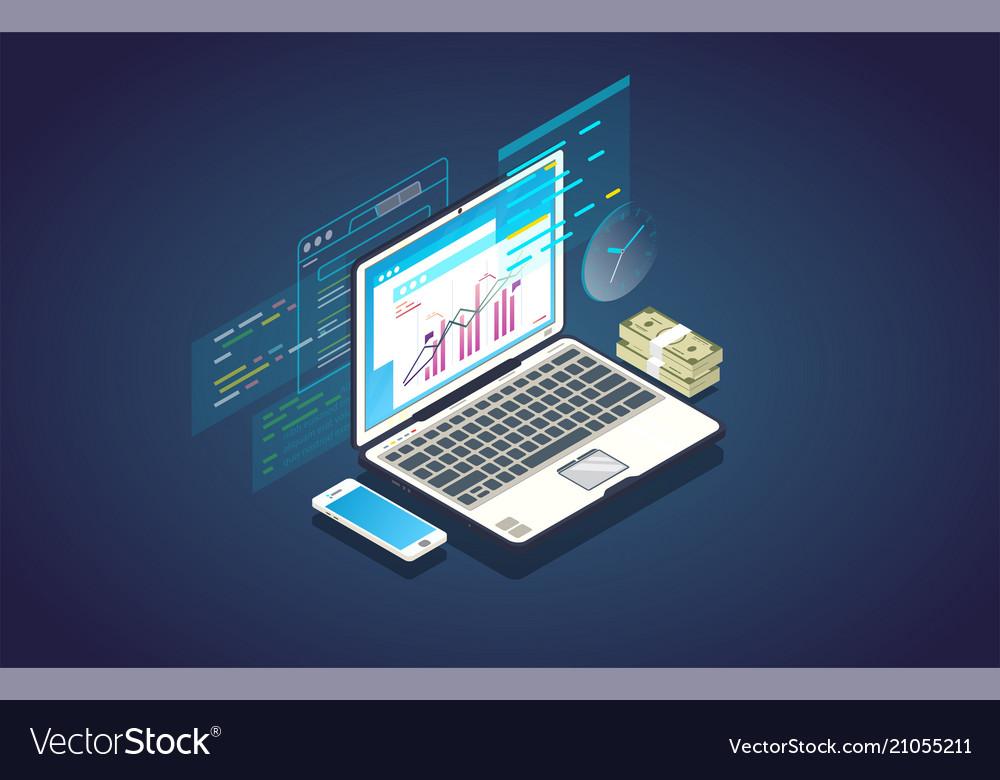 Online finance analytics banner