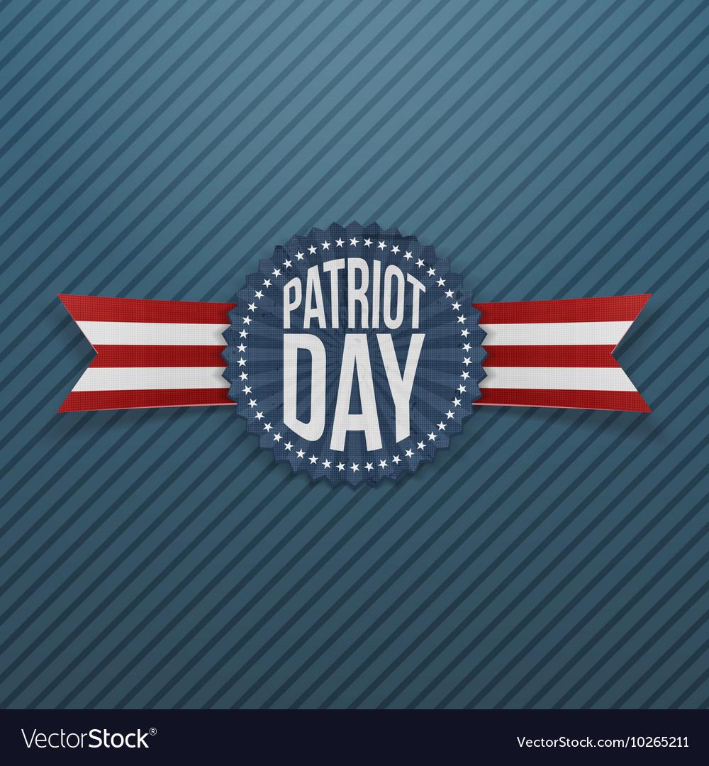 Patriot Day memorial realistic Emblem vector image