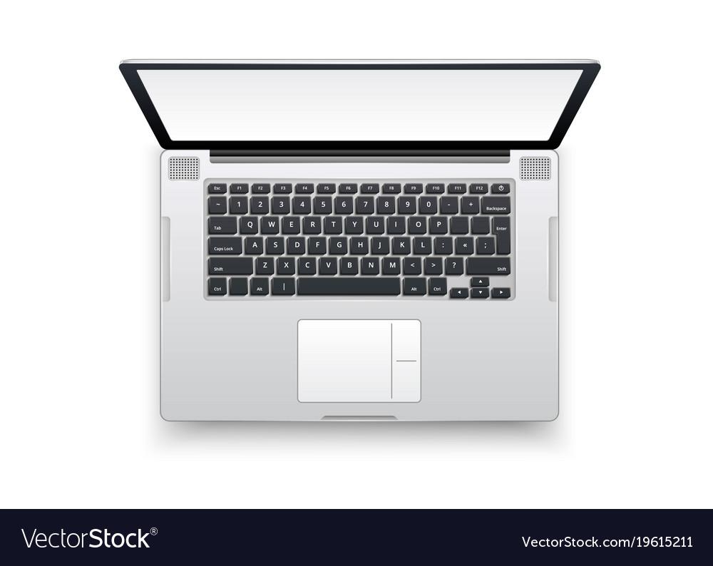 realistic laptop mockup 3d computer royalty free vector