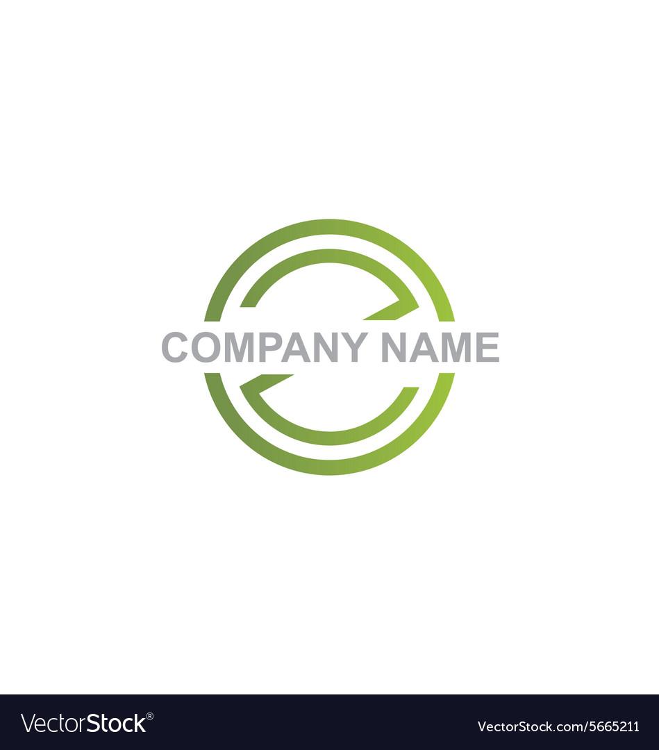 Round communication business logo