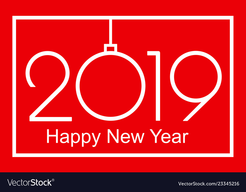 2019 happy new year or christmas vector