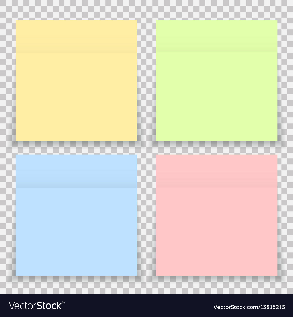 Colorful office sticker note paper isolated
