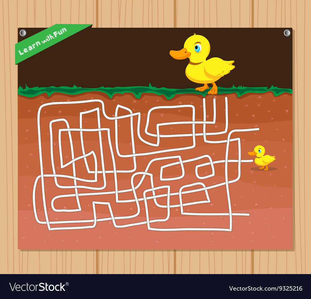 Funny maze game - beautiful educative for kid vector image