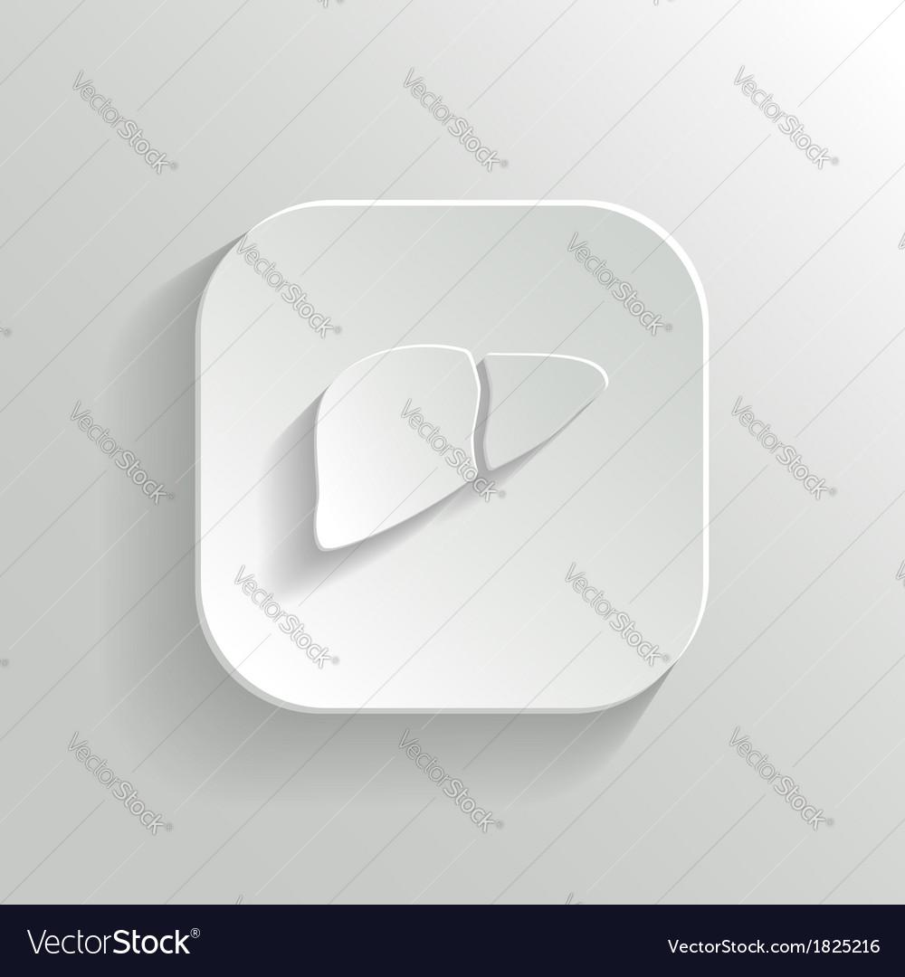 Liver icon - white app button