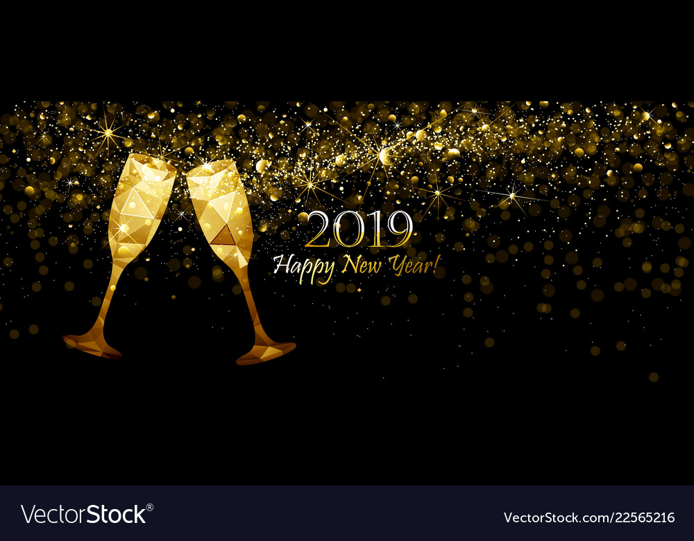 new year s background with champagne vector image