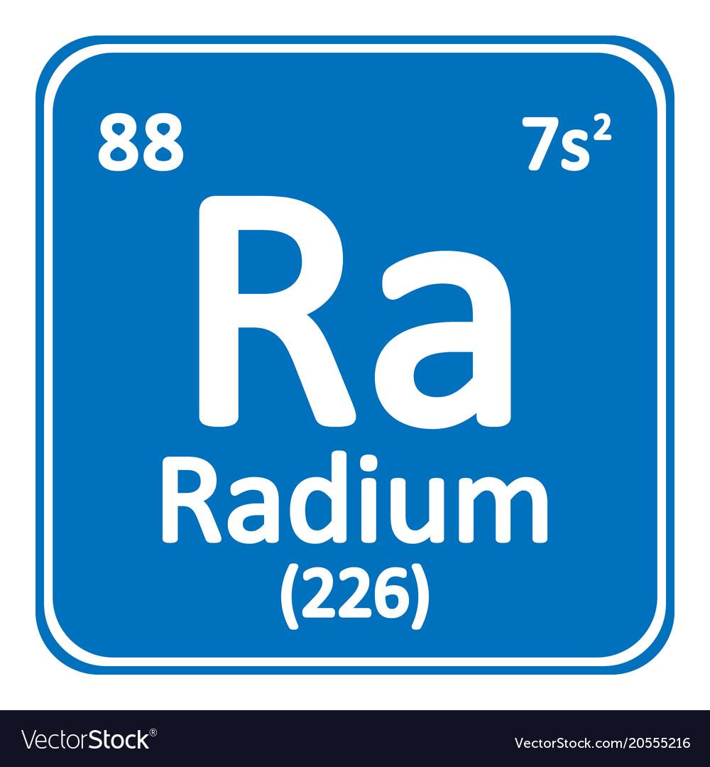 Periodic Table Element Radium Icon Royalty Free Vector Image