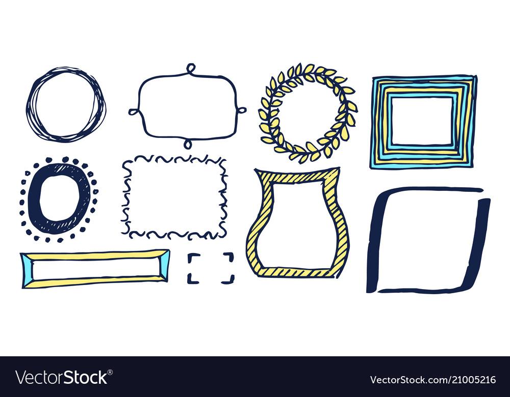 Set of various frames card