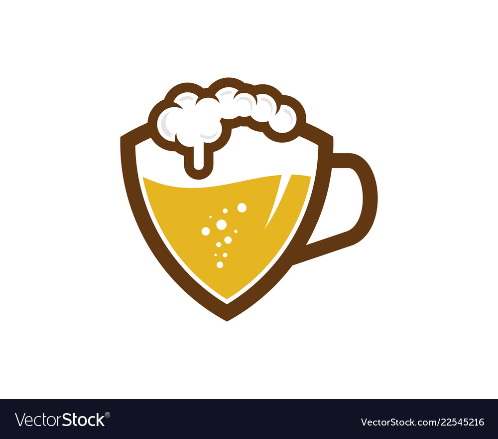 Shield beer logo icon design