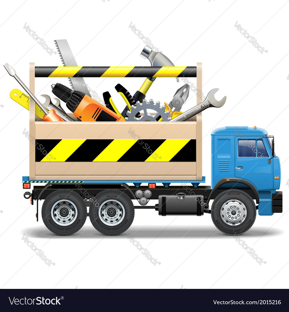 Toolbox and Truck vector image