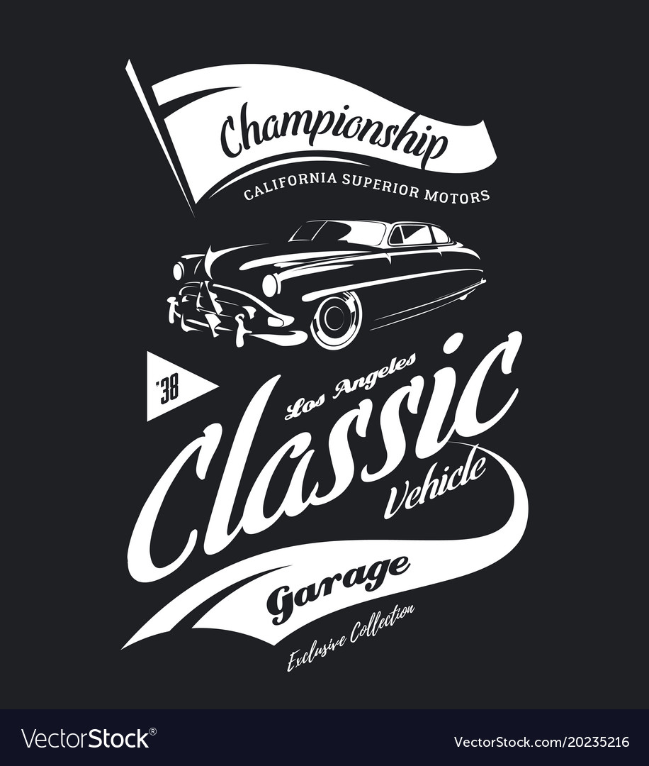 Vintage vehicle logo