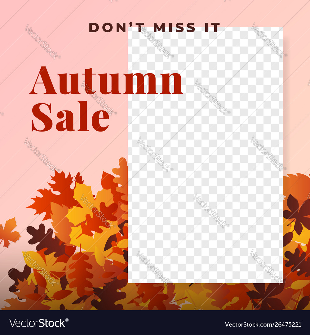 Autumn sale social media promotion poster