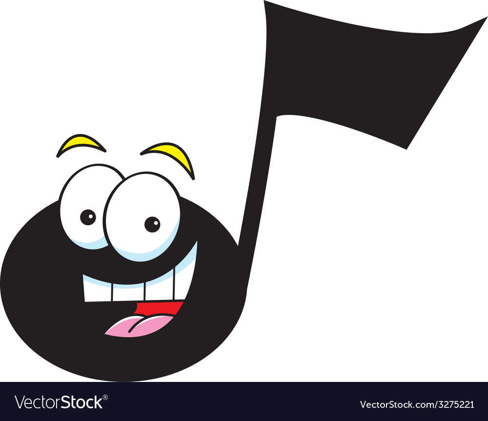 cartoon musical note royalty free vector image rh vectorstock com cartoon music notes clipart animated musical notes gif