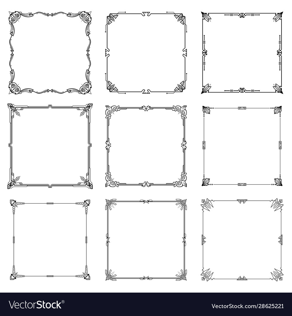 Decorative frames and borders abstract rectangle