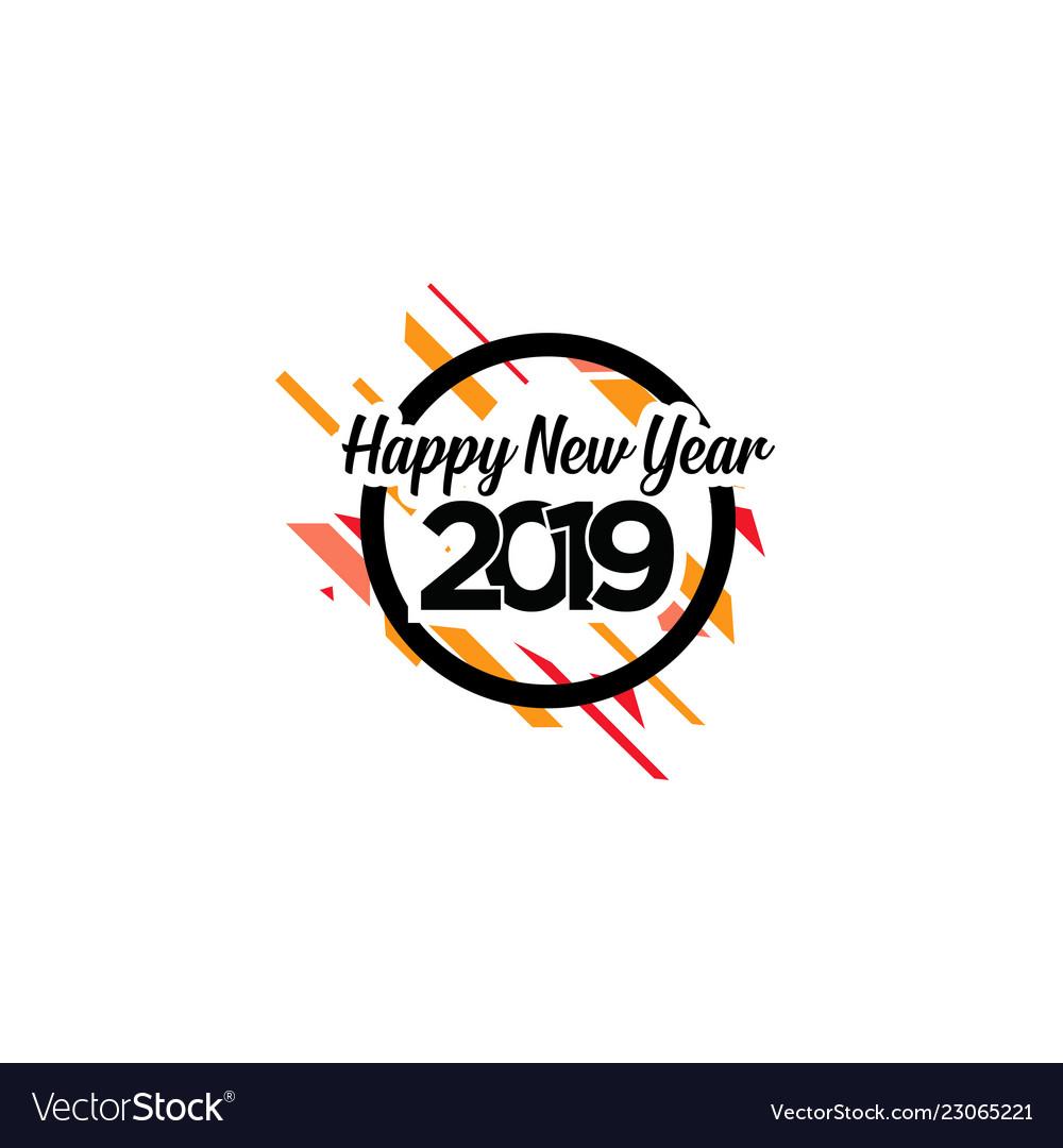 Happy new year logo banner