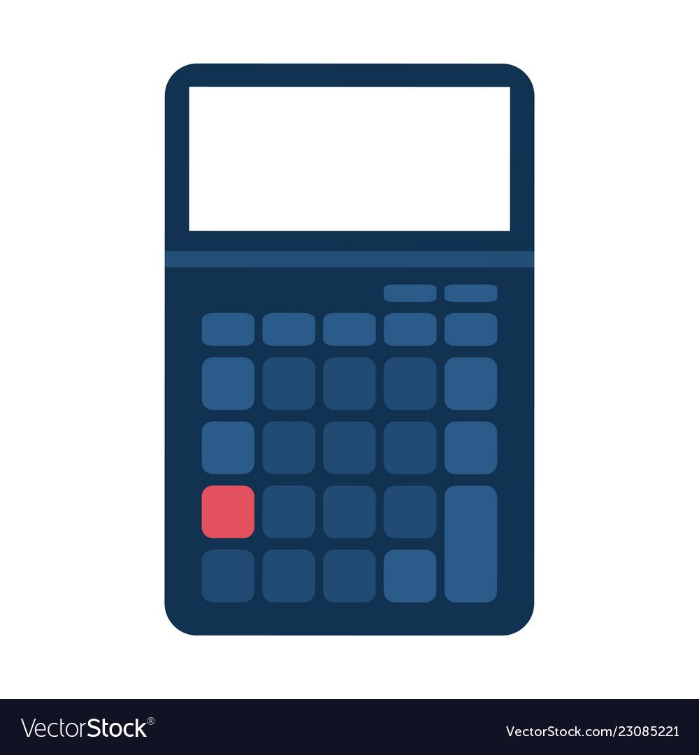 Money Savings Calculator Vector Image