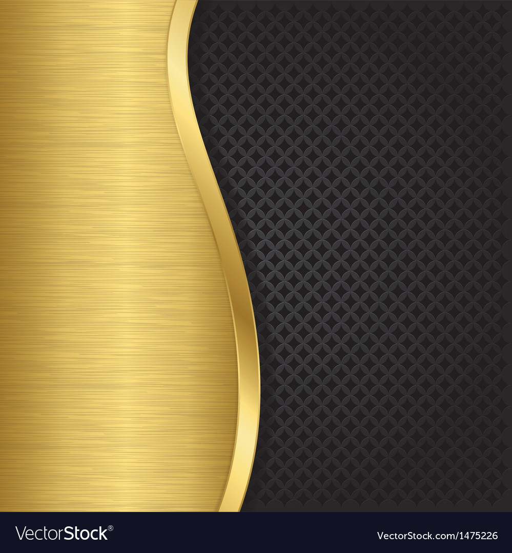 Abstract golden background with metallic grill