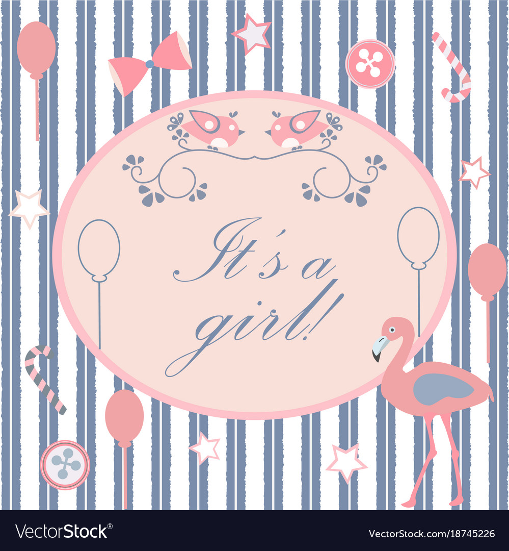 Baby Shower Card Design With Message Royalty Free Vector