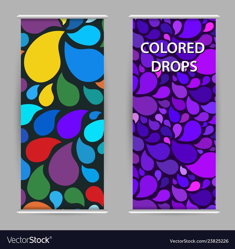 Bright drops paint modern purple background