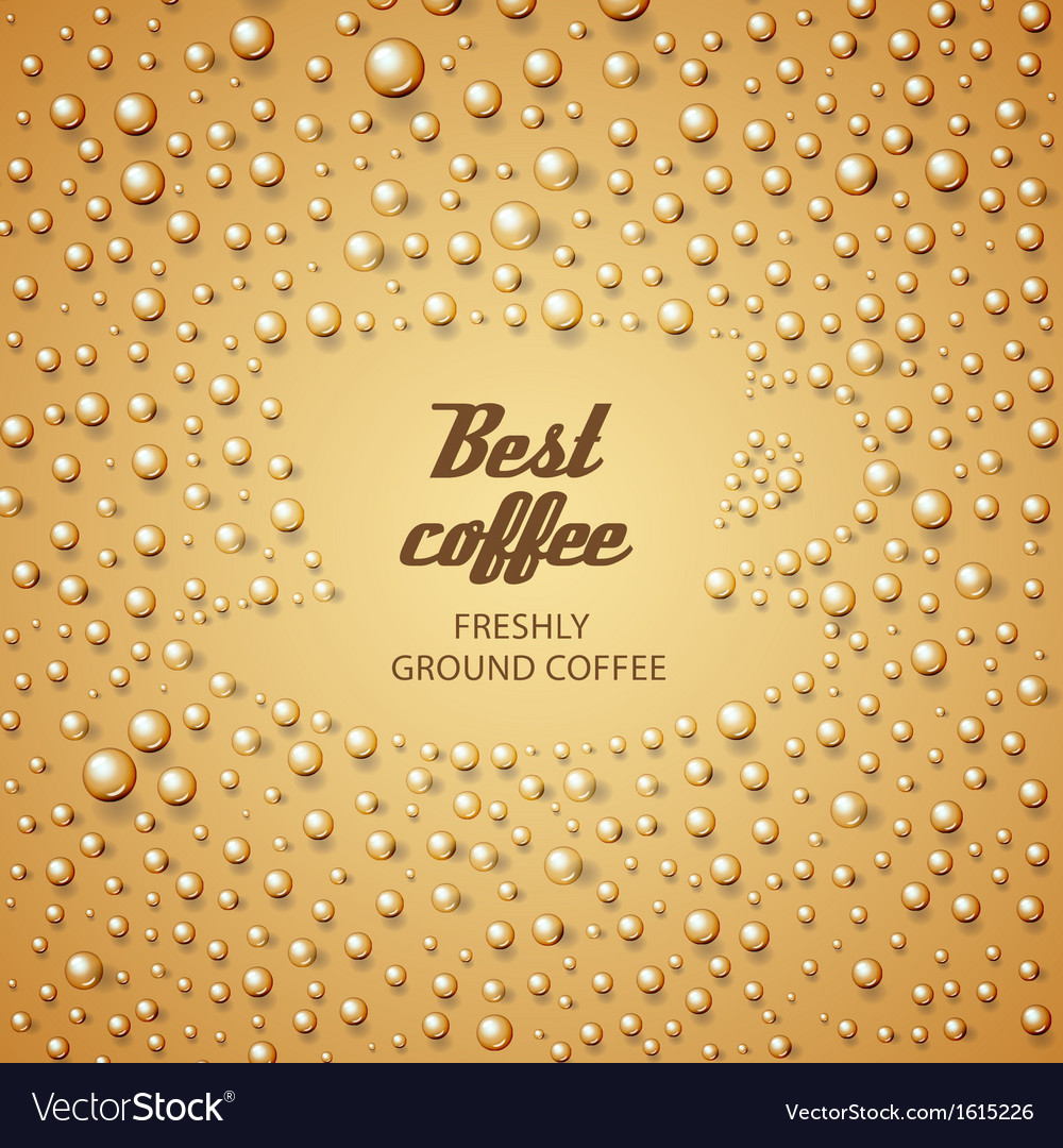 Coffee cup make from water drops vector image