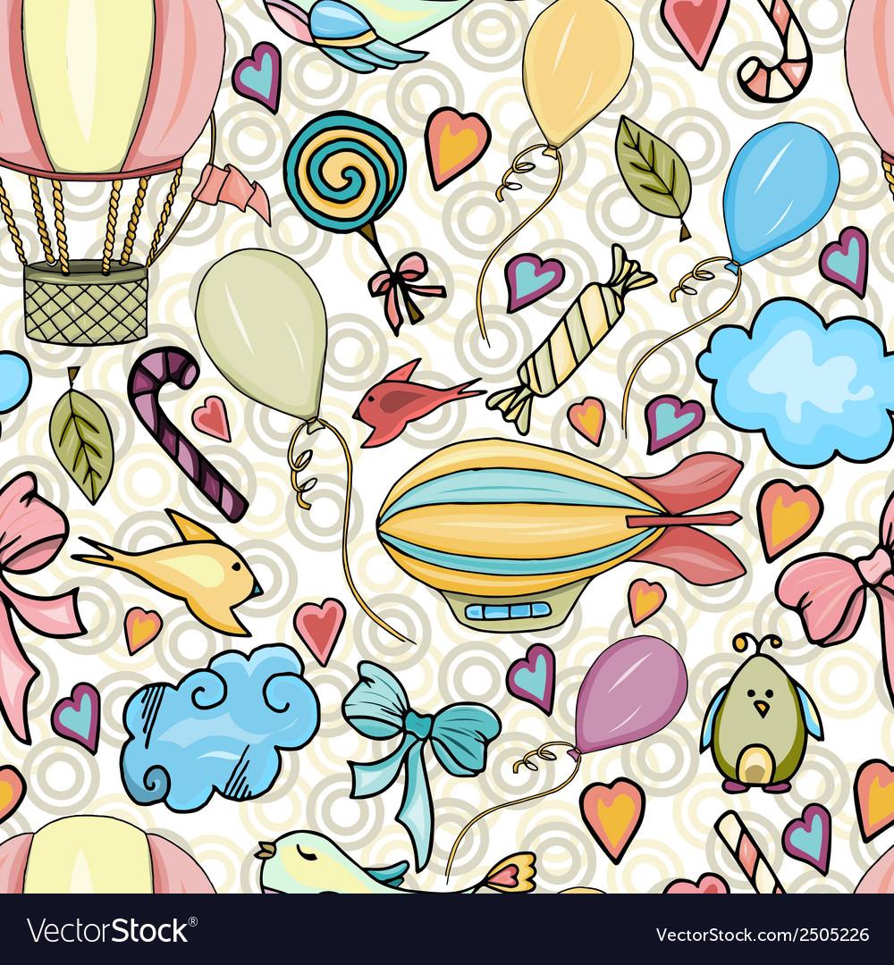 Happiness seamless pattern