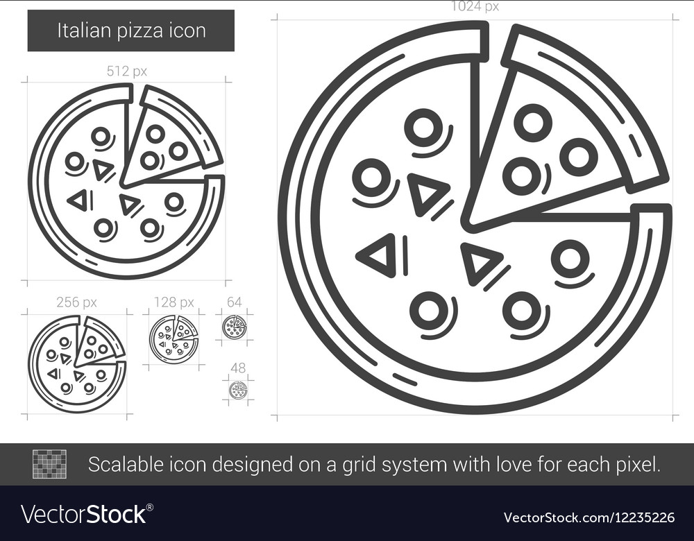 Italian pizza line icon