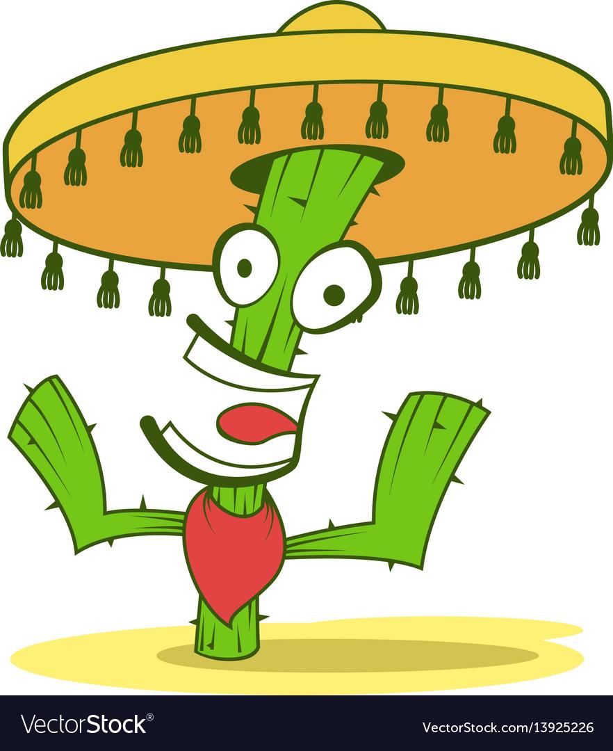 Jolly cactus in sombrero