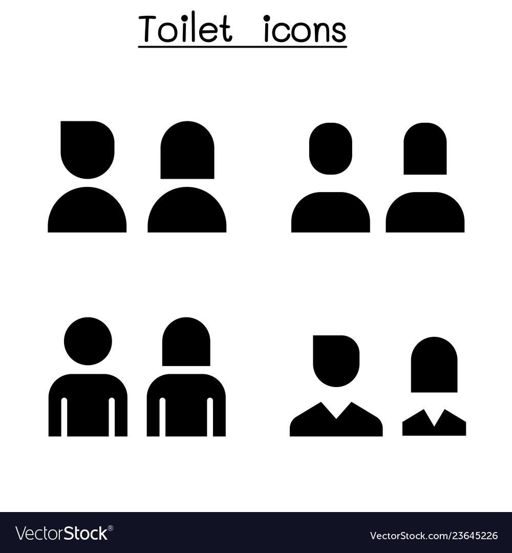 Toilet restroom wc icon set