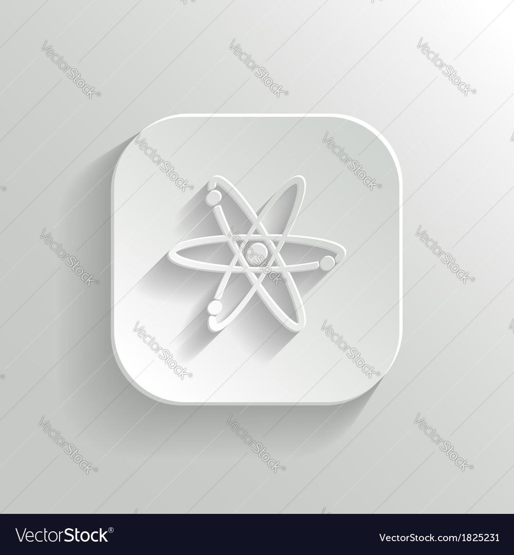 Atom icon - white app button