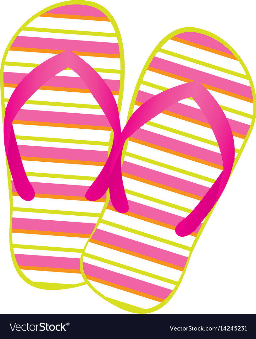 f43ad94a76ddb Colorful silhouette of beach flip-flops Royalty Free Vector
