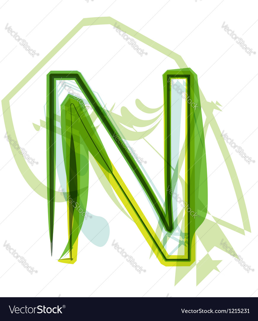 Green letter vector image