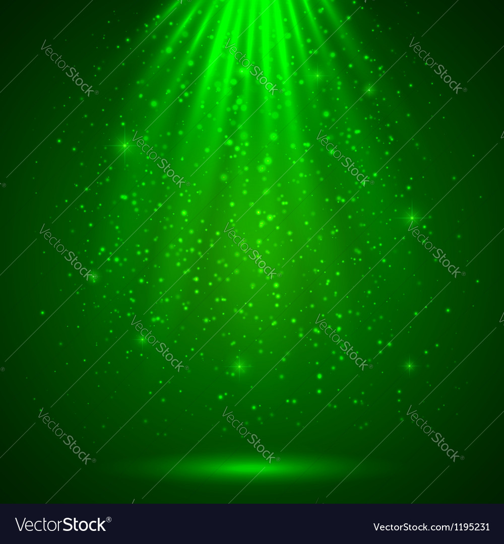 Green magic light abstract background vector image