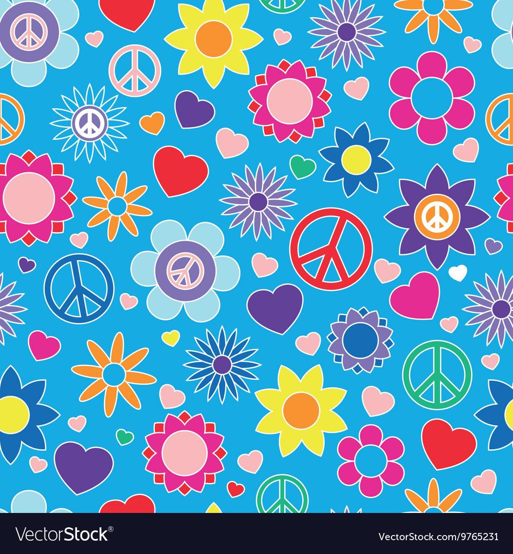 Hippie summer pattern