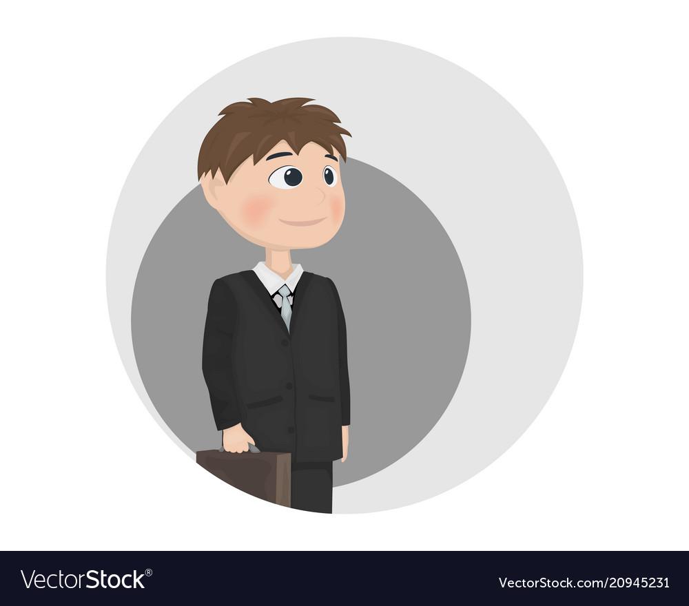 Man avatar businessman teacher or manager vector image