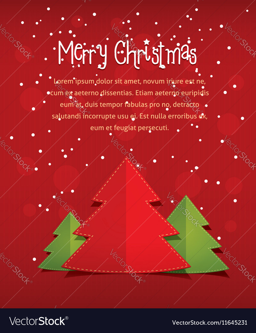 Merry christmass card with text red