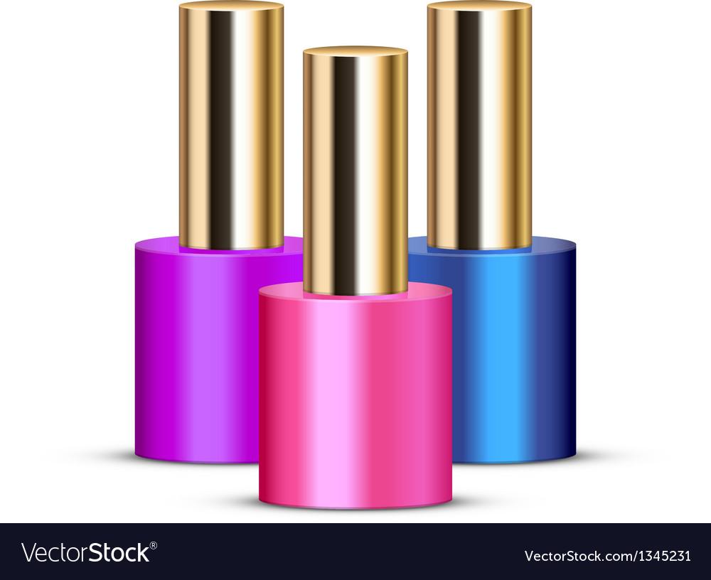 Nail polishes vector image