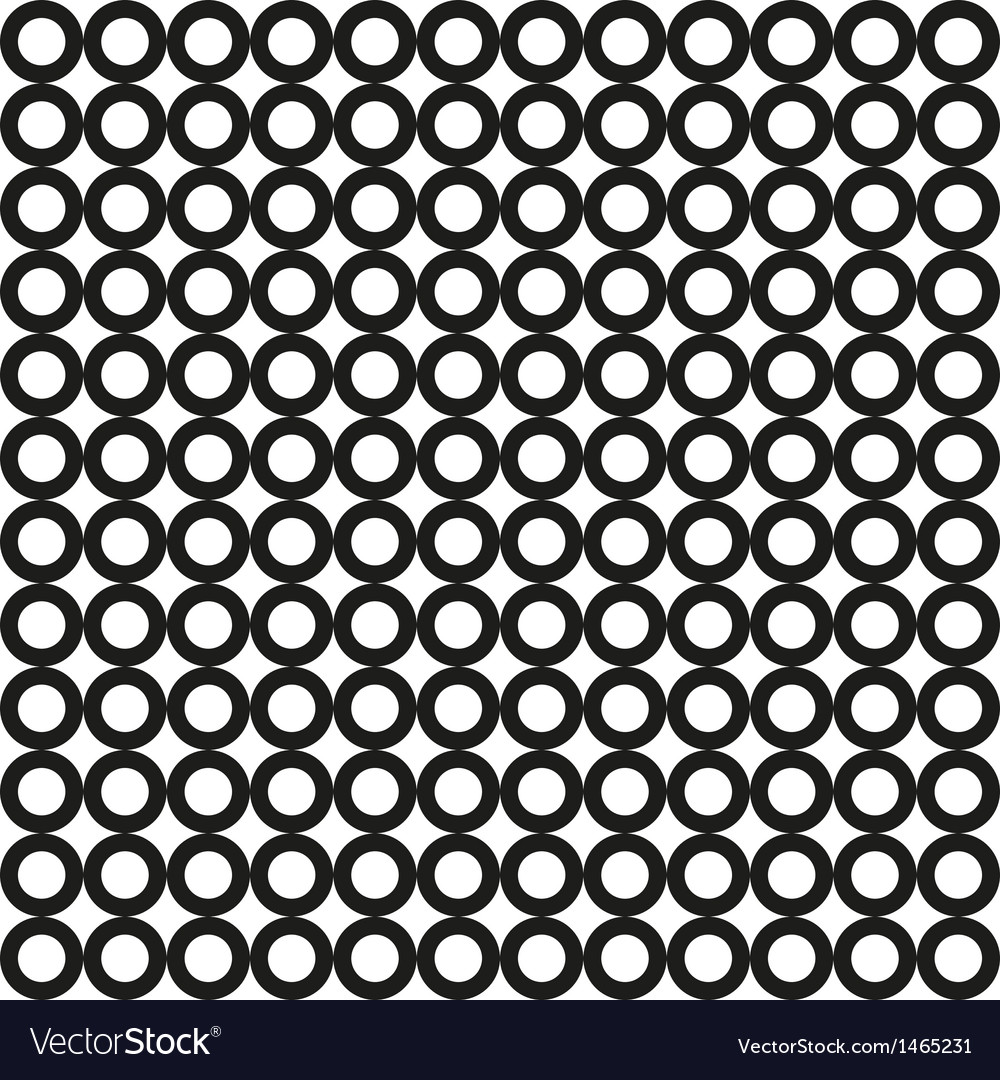 Seamless black circle pattern