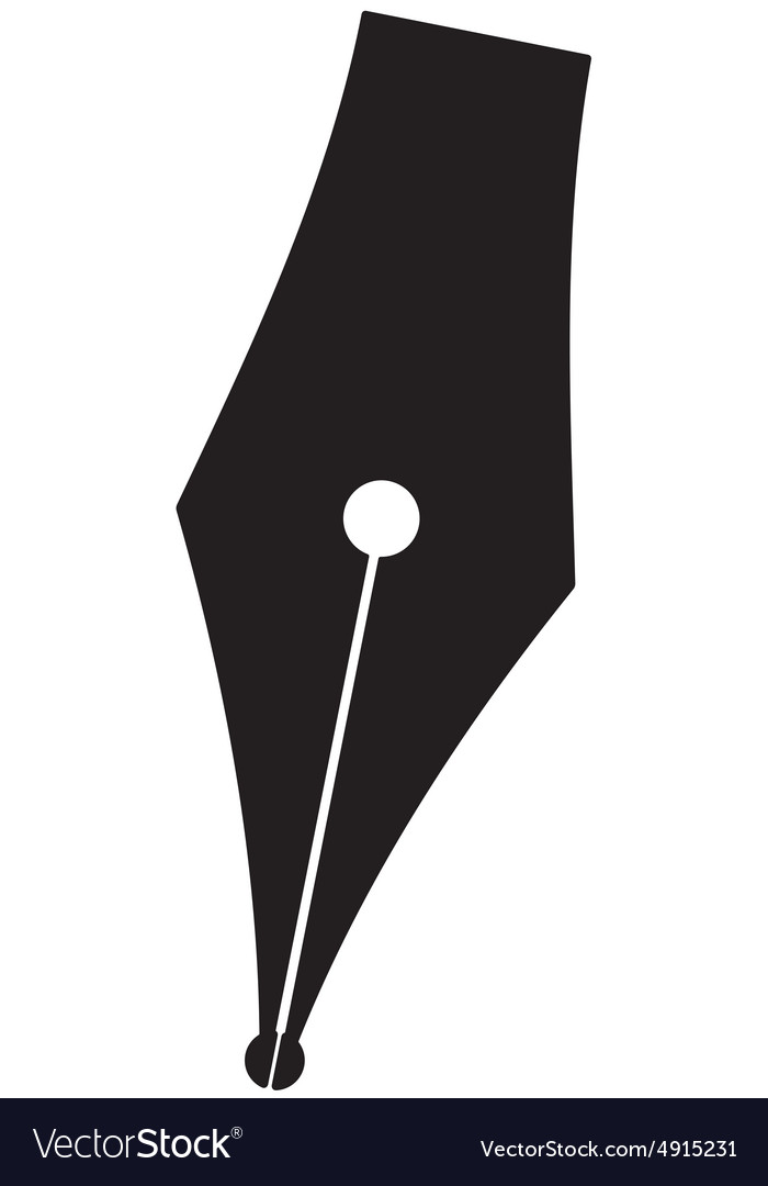silhouette pen royalty free vector image - vectorstock  vectorstock