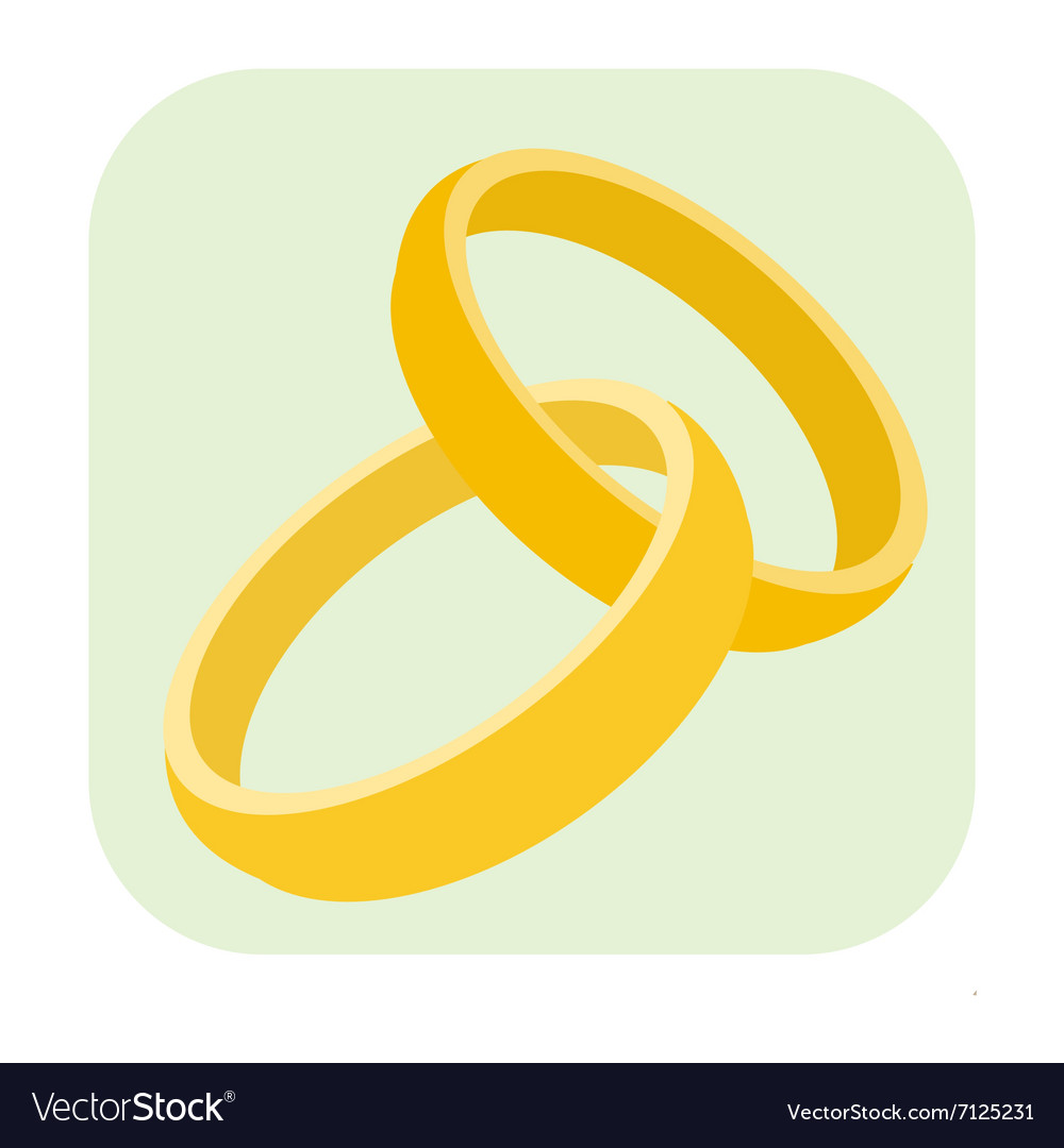 Wedding rings cartoon icon Royalty Free Vector Image
