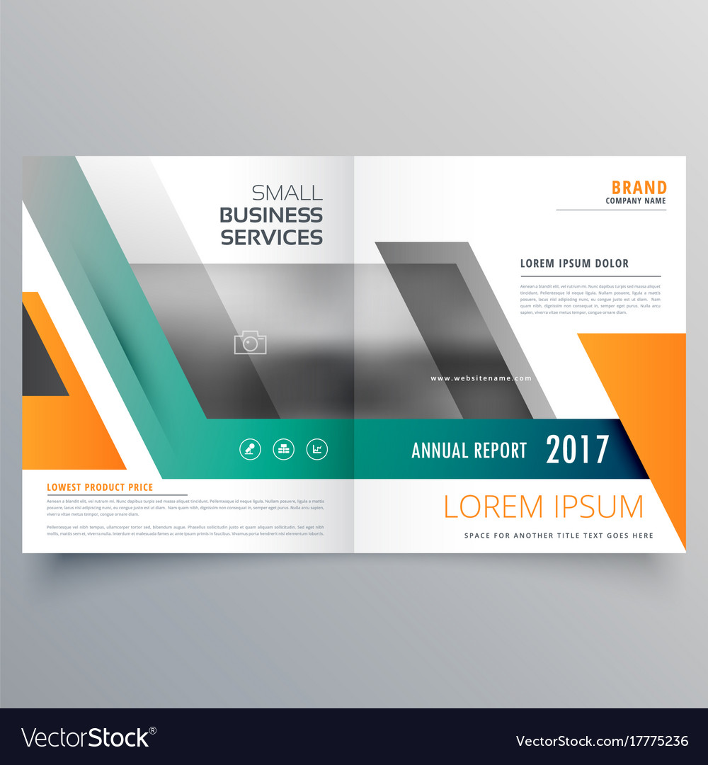 bi fold brochure template design made with vector image