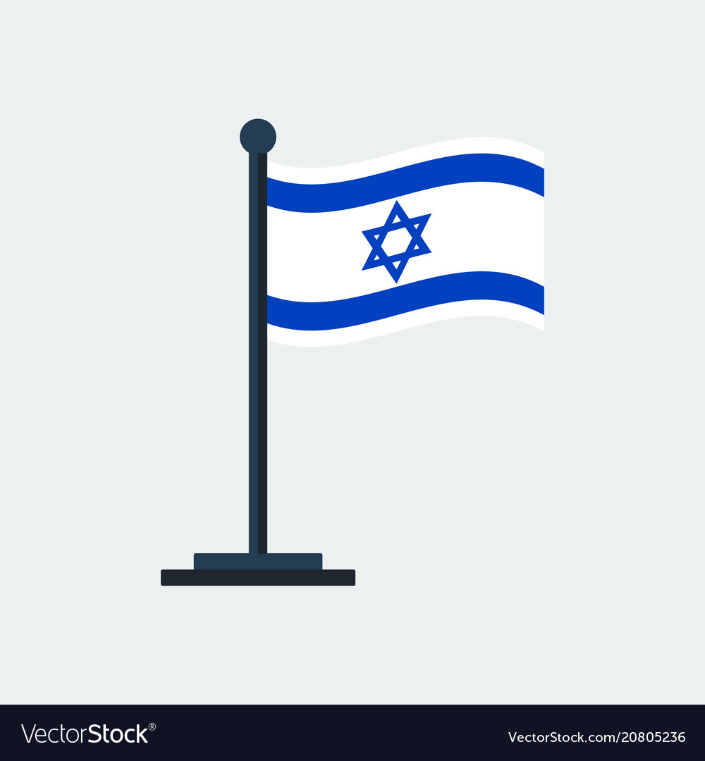 Flag of israelflag stand