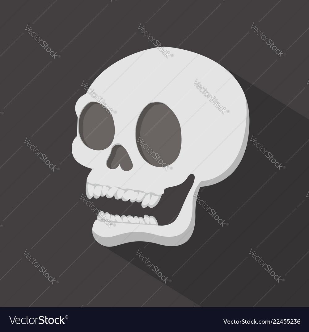 Head skull with long shadow