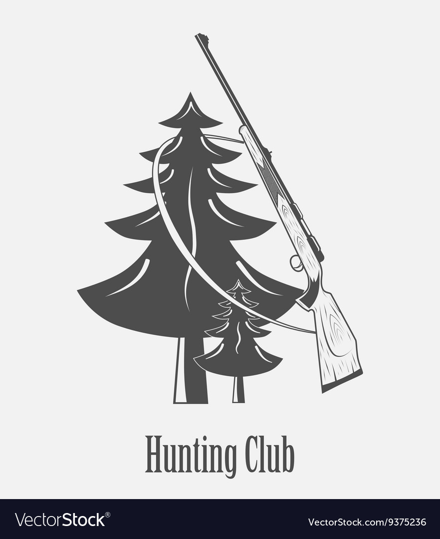 Icon of the hunting Club with guns