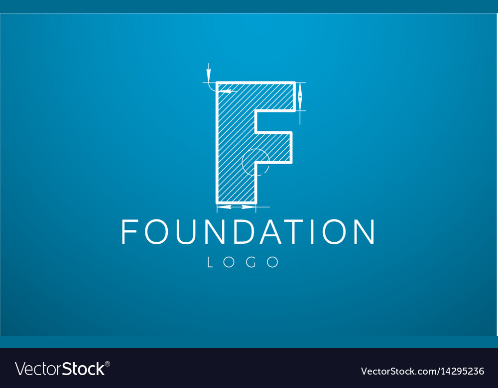 Logo template letter f in the style of a vector image