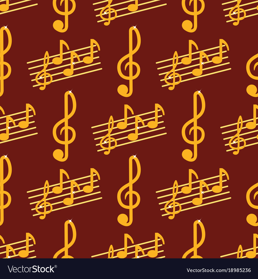 Music note melody symbols seamless pattern vector image