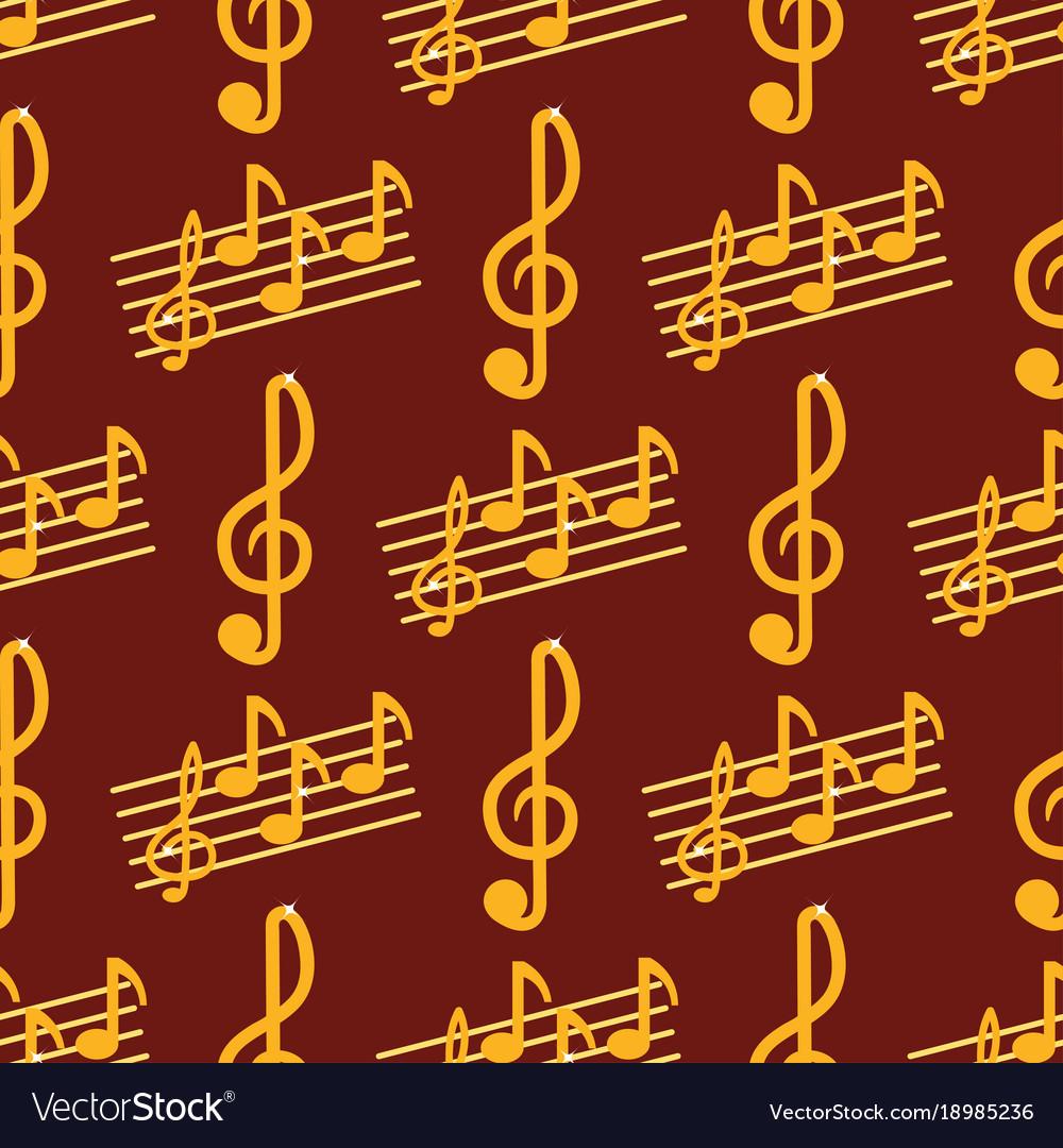 Music note melody symbols seamless pattern
